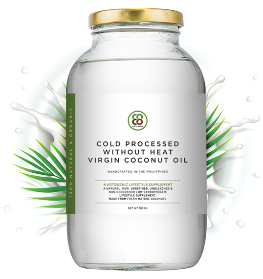 cold processed without heat virgin coconut oil